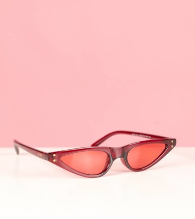 ODETTE RED CAT EYE GLASSES
