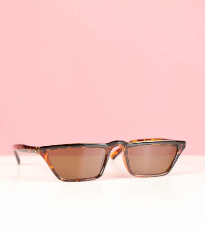 RECTANGULAR WORLD BROWN GLASSES