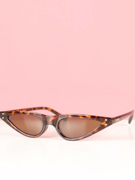 ODETTE BROWN CAT EYE GLASSES