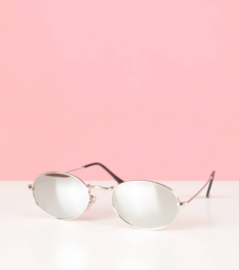 SILVER BEAUTY OVAL GLASSES