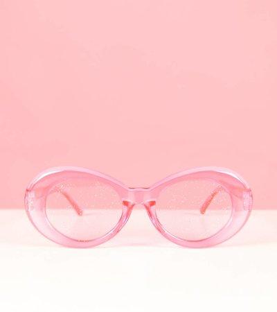 PINK GLITTERBALL GLASSES