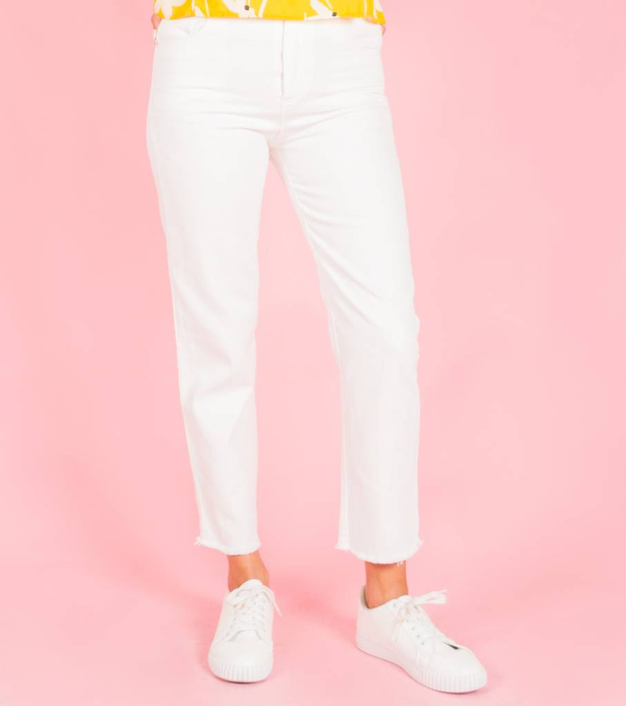 WHITE GOOD VIBES JEANS