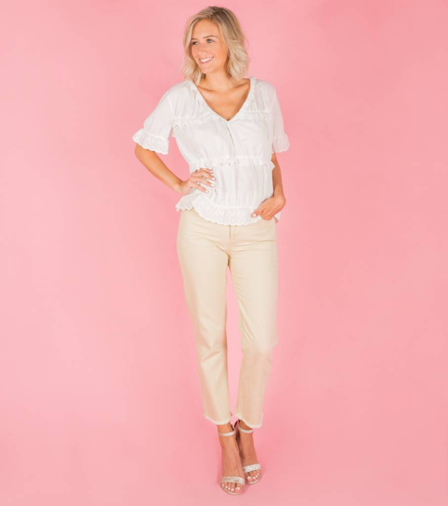 BEIGE GOOD VIBES JEANS