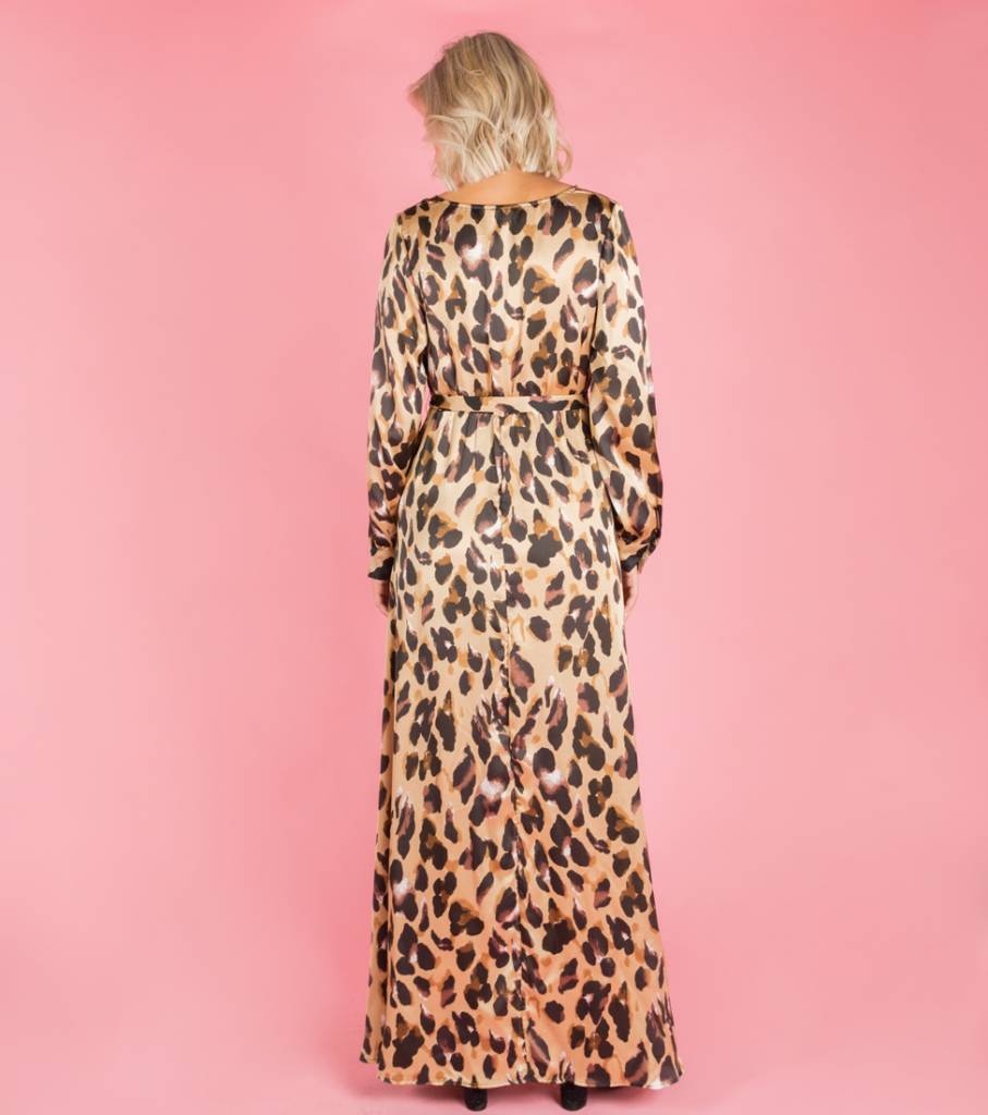 THOUGHTS OF LEOPARD MAXIDRESS