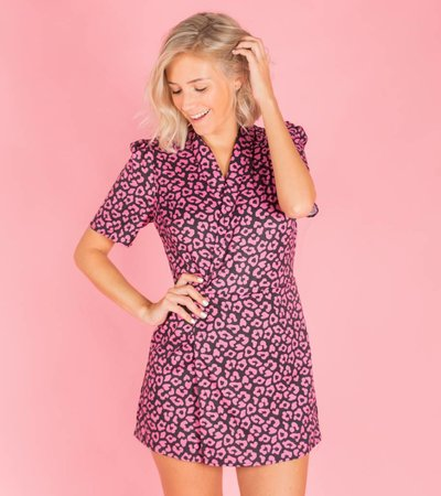 LIKE A PINK LEOPARD PLAYSUIT