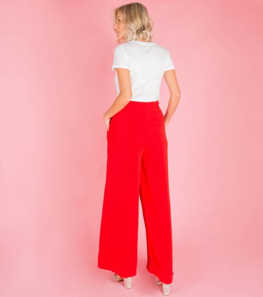 WALK LIKE A LADY RED TROUSERS