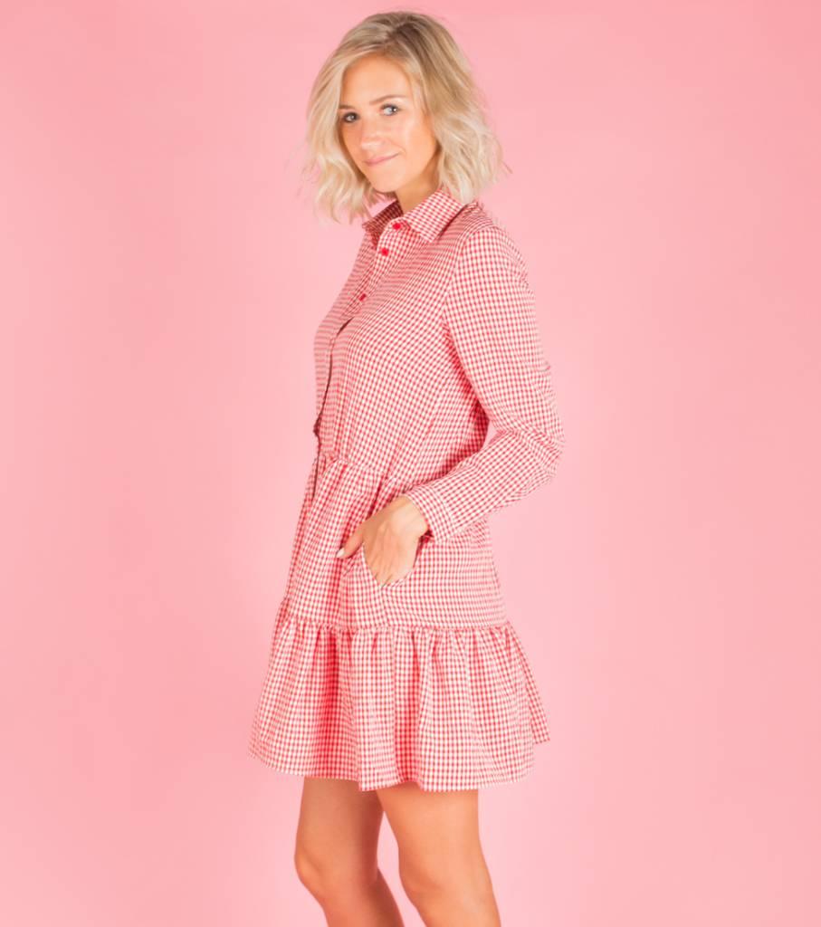 FARMGIRL RED DRESS