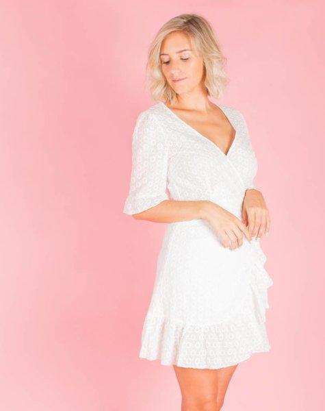 BEACHY BLANC WRAP DRESS