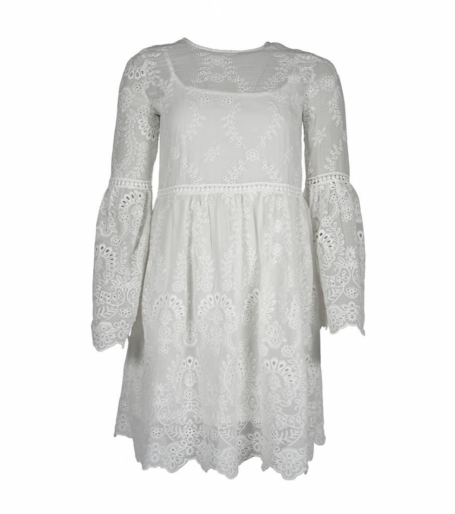 FANCY LACY WHITE DRESS