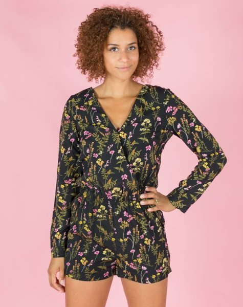 FLOWER GARDEN FESTIVE PLAYSUIT