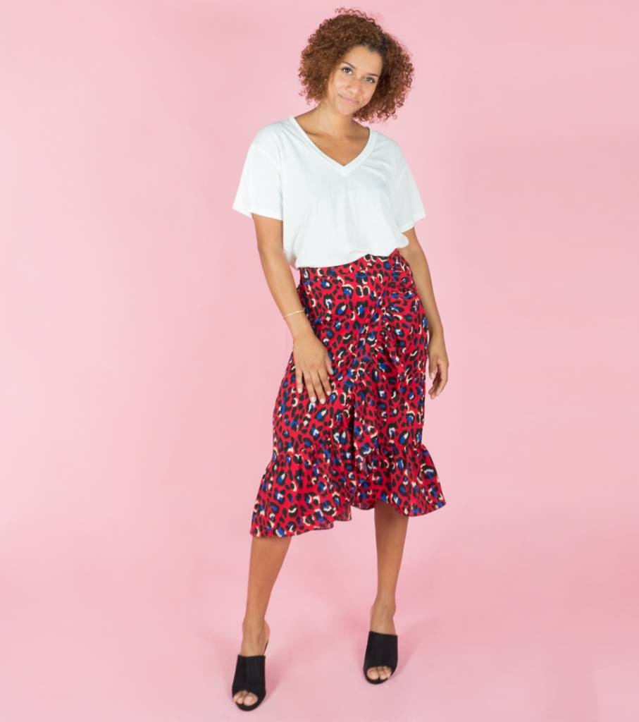 COUNT YOUR SPOTS PANTER SKIRT