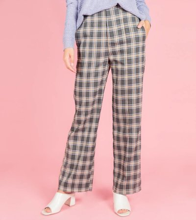 Tartan Trousers camel & grey