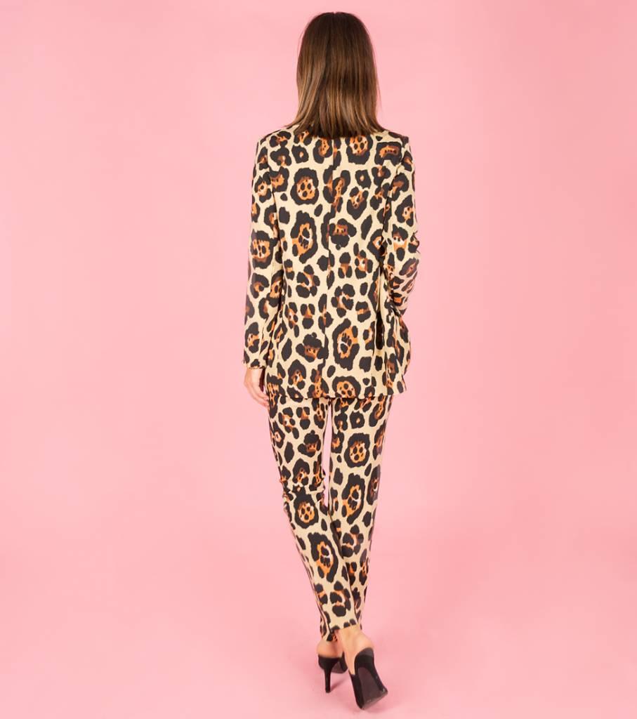 Me And My Leopard Blazer Beige