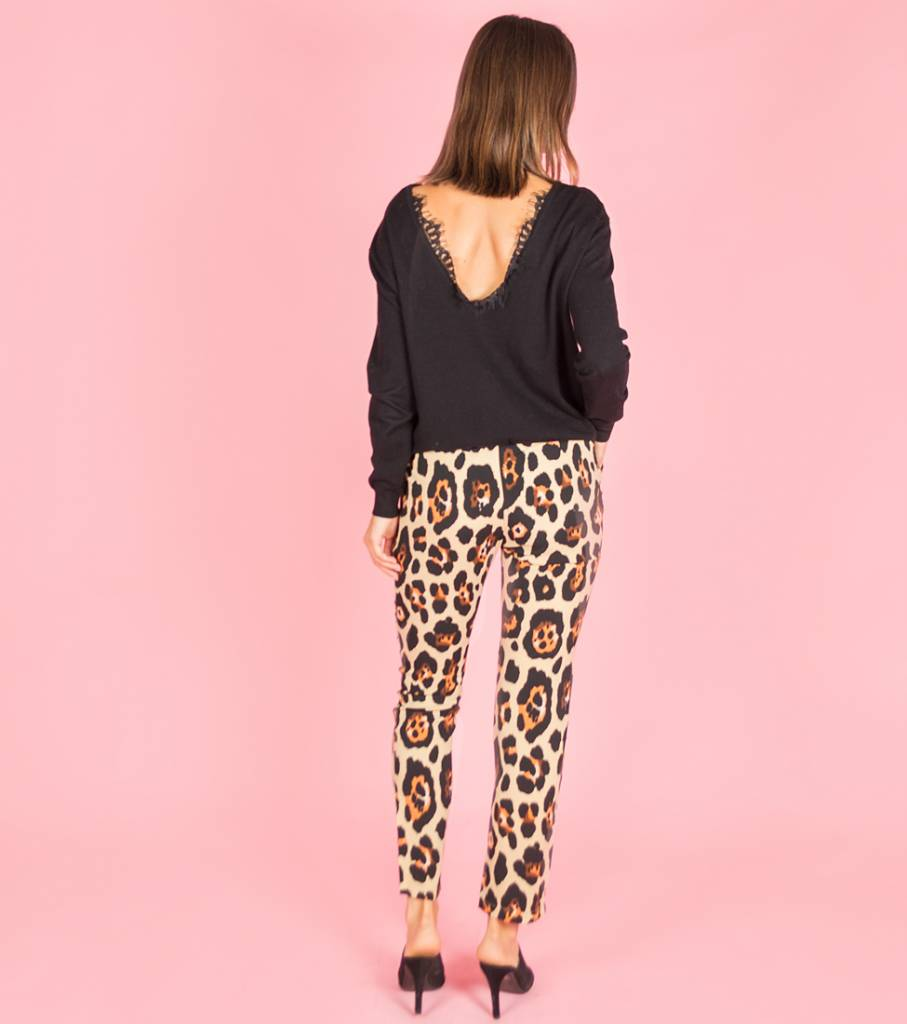 Me And My Leopard Pants Beige