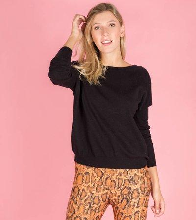 Black V-back Sweater