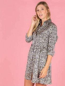 On The Spot Leopard Dress Black