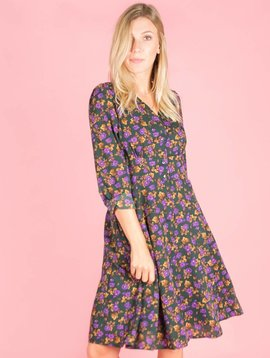 Purple rain midi dress