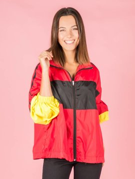 Dancing in the rain jacket red