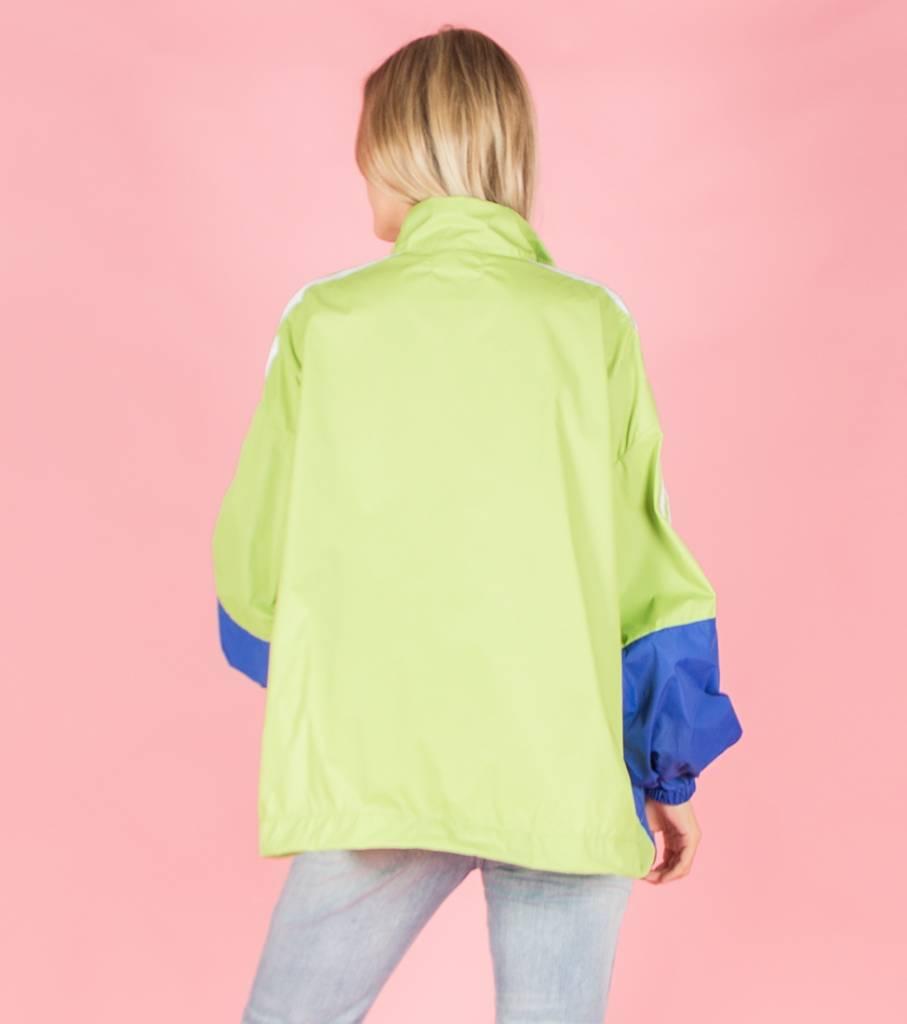 Dancing in the rain jacket green