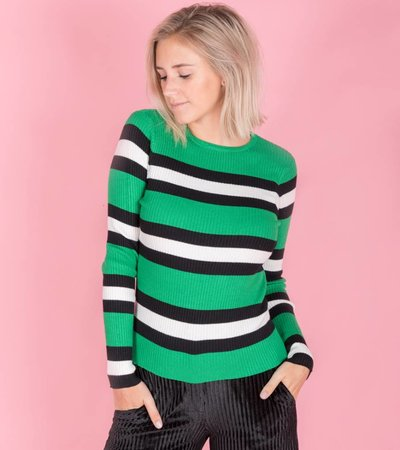 Tight Striped green sweater