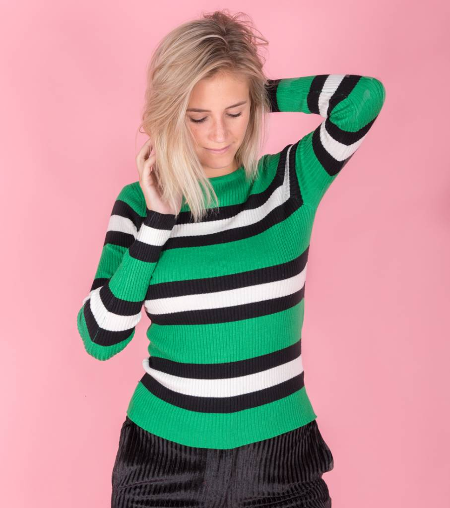 Tight Striped green sweater