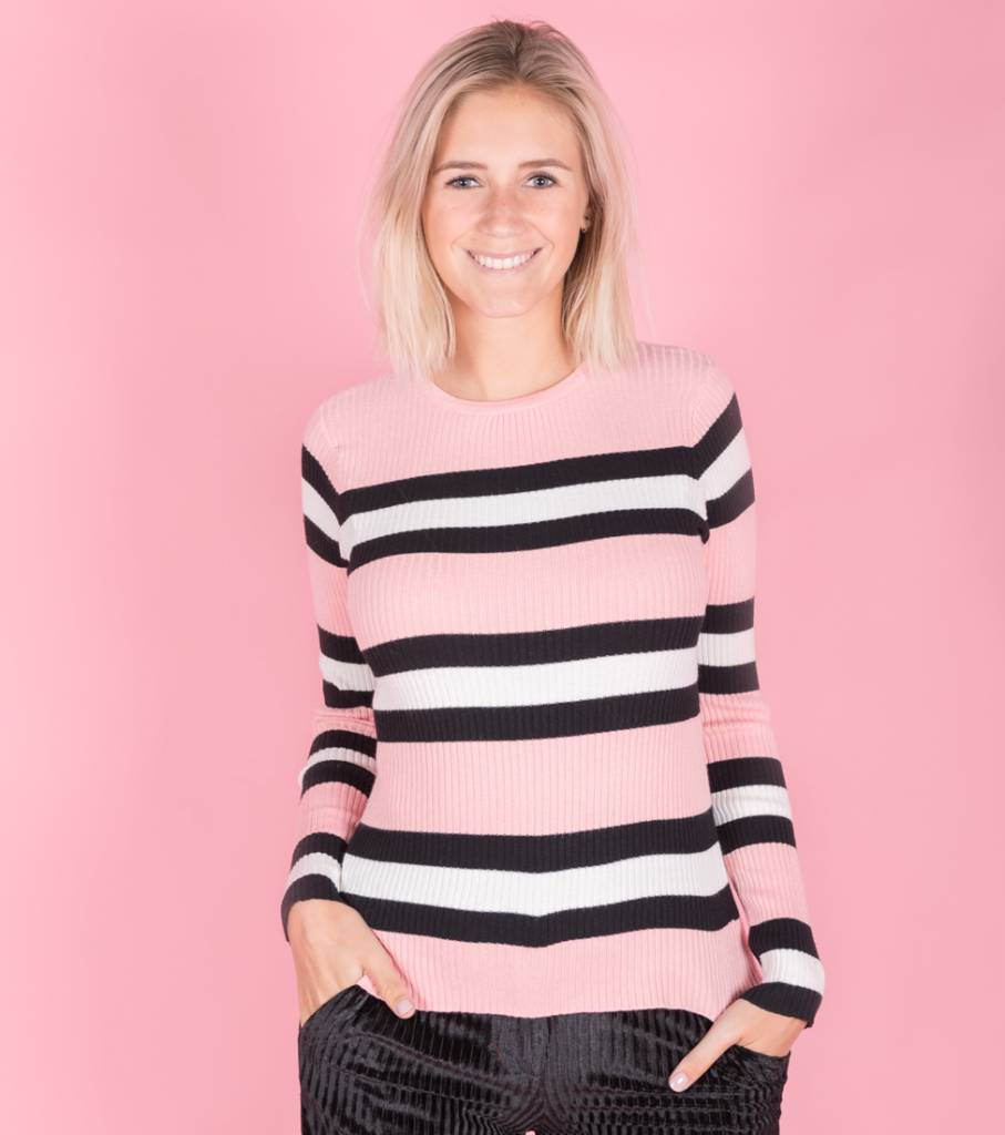 Tight Striped Pink sweater