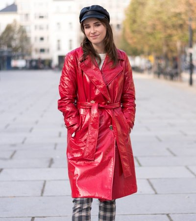 PARDON MY TRENCH RED COAT