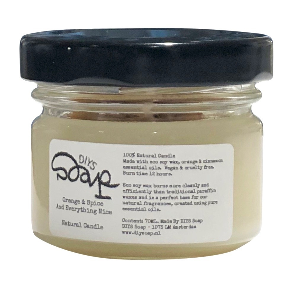 Natural Scented Candle Orange & Spice