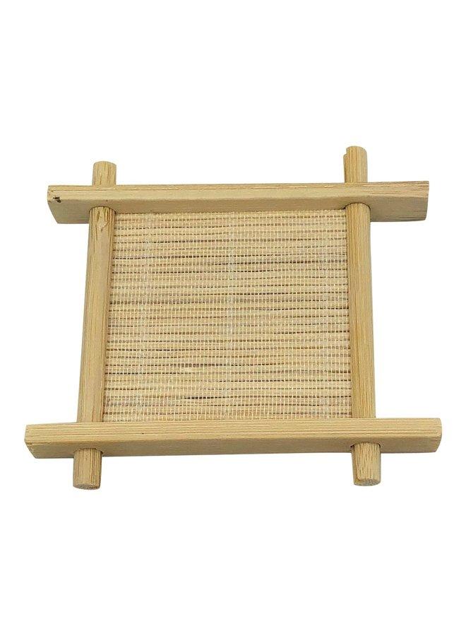 Bamboo soap dish small