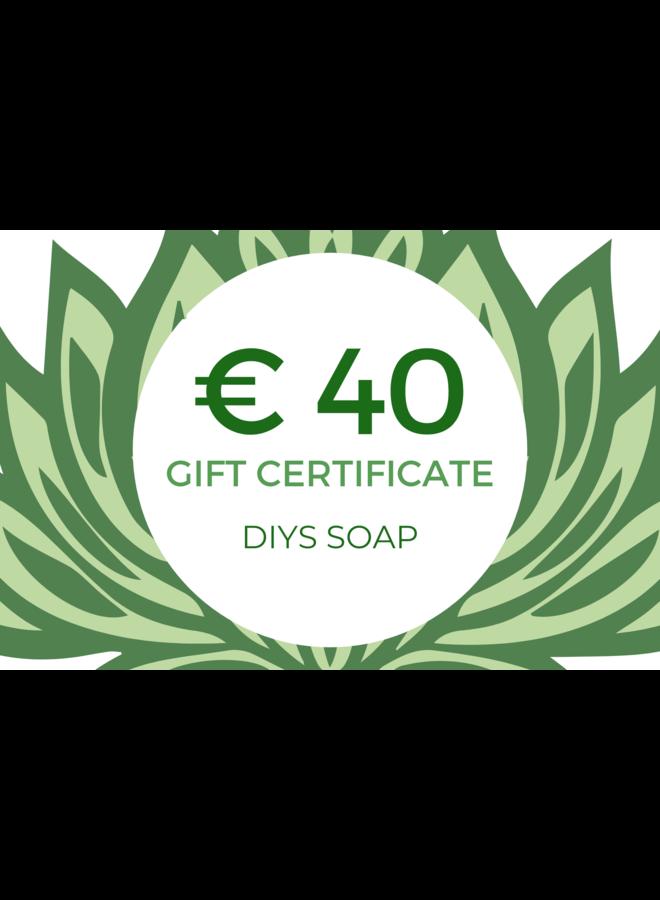 Gift Certificate DIYS Soap