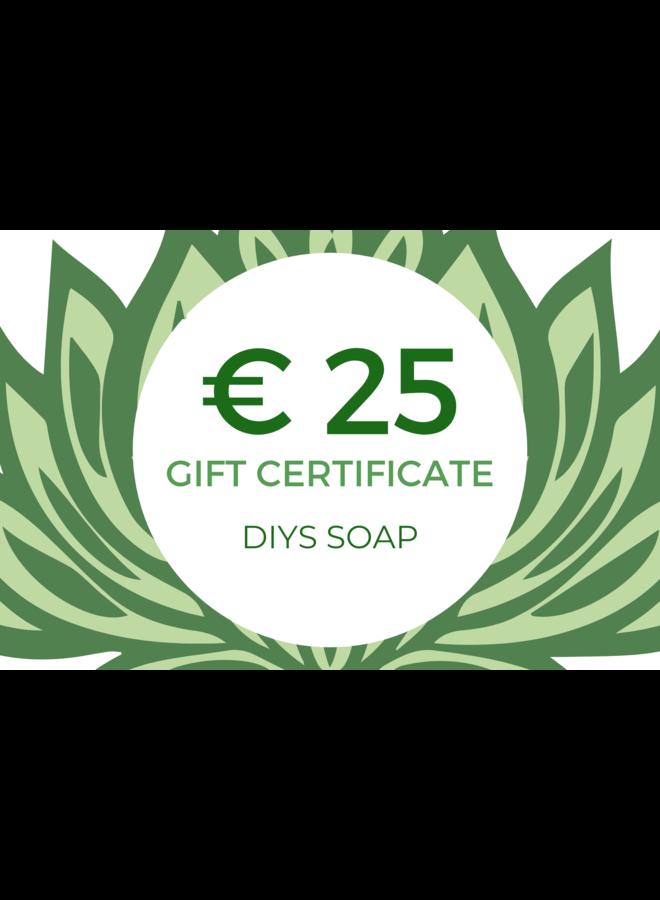 Gift Certificate DIY Soap