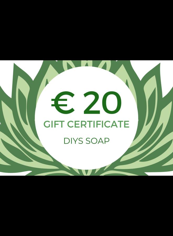 Cadeaukaart DIYS Soap