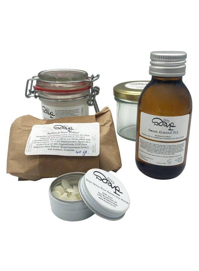 DIY pakket Body Cream & Lip Balm