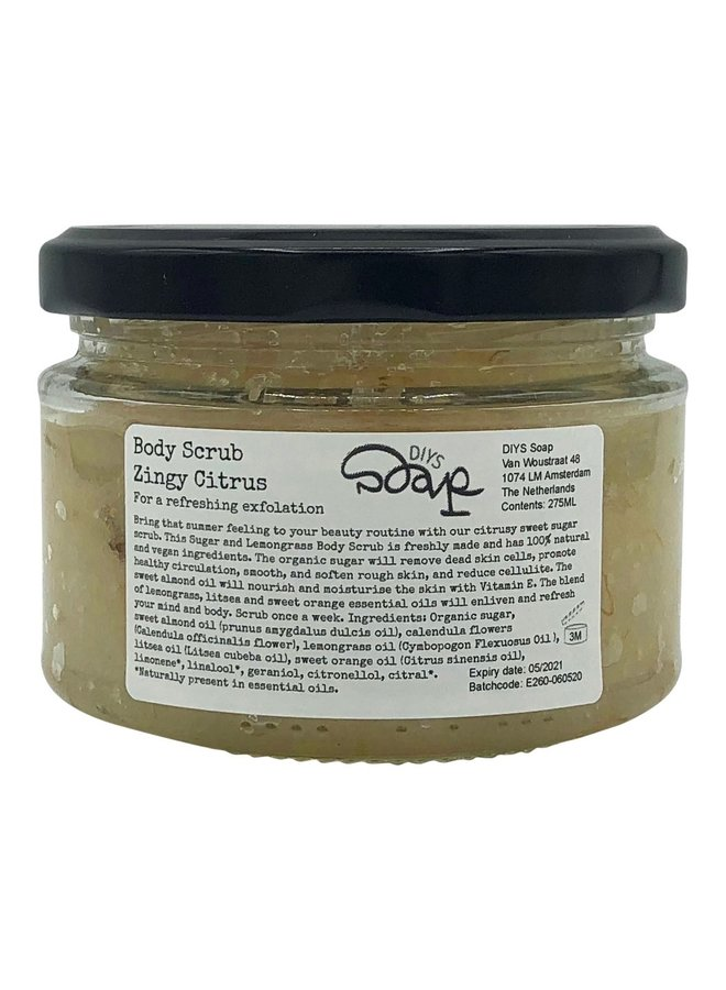 Body Scrub met Suiker en Citroengras: Zingy Citrus!