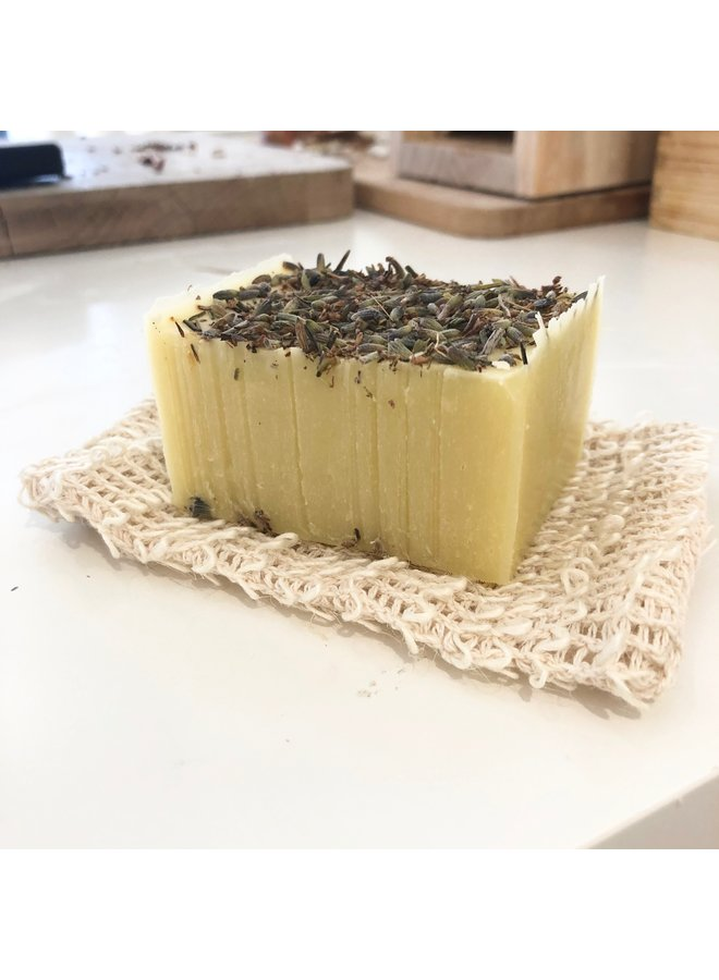 Natural sisal exfoliating soap pouch
