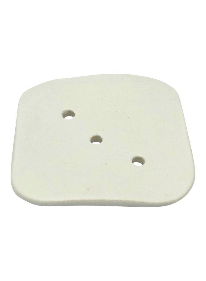 Vierkant zeepbakje keramiek