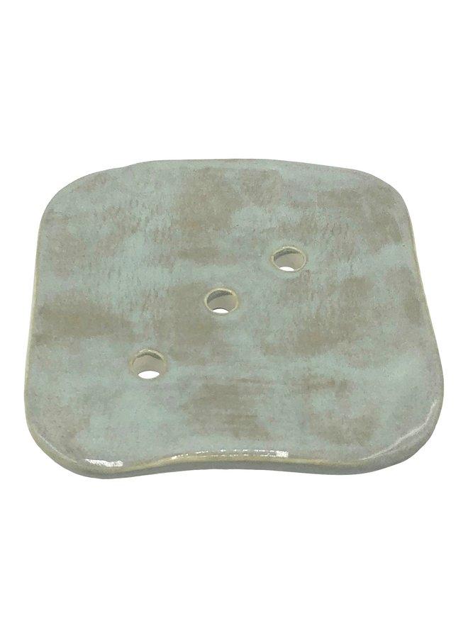 Square ceramic soap dish