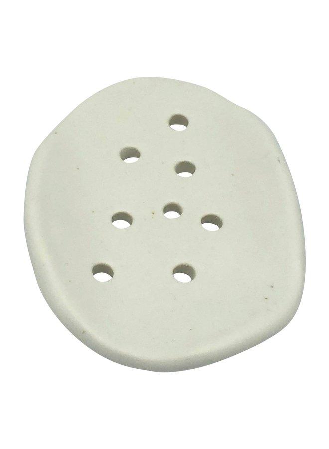 Ovaal zeep bakje keramiek