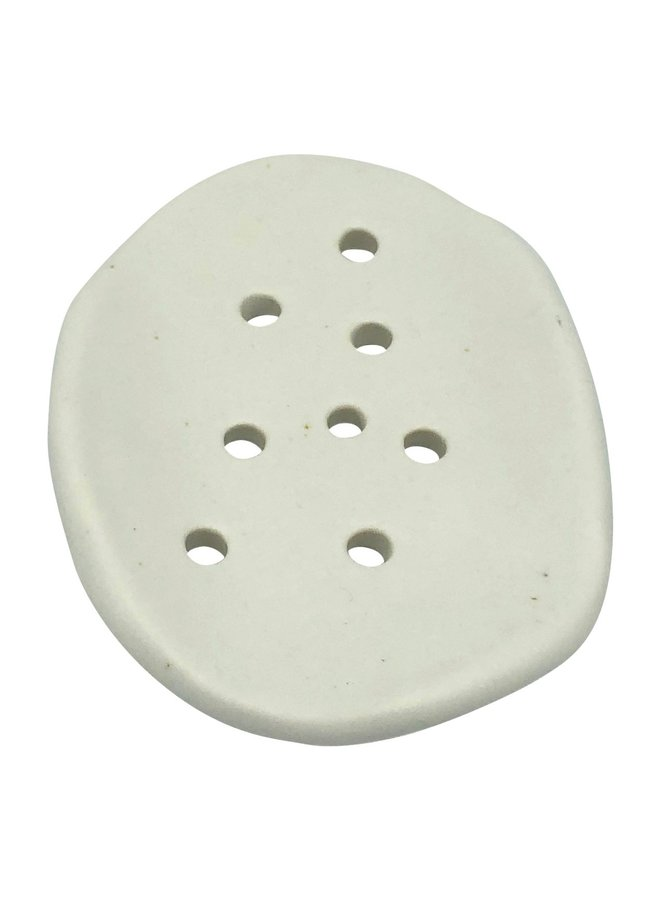Oval handmade ceramic soap dish