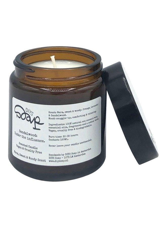 Sandalwood, Orange and Lavender Scented Candle