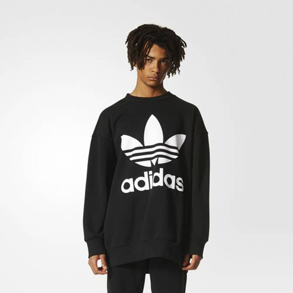 Adidas Crewneck Sweatshirt (Black)