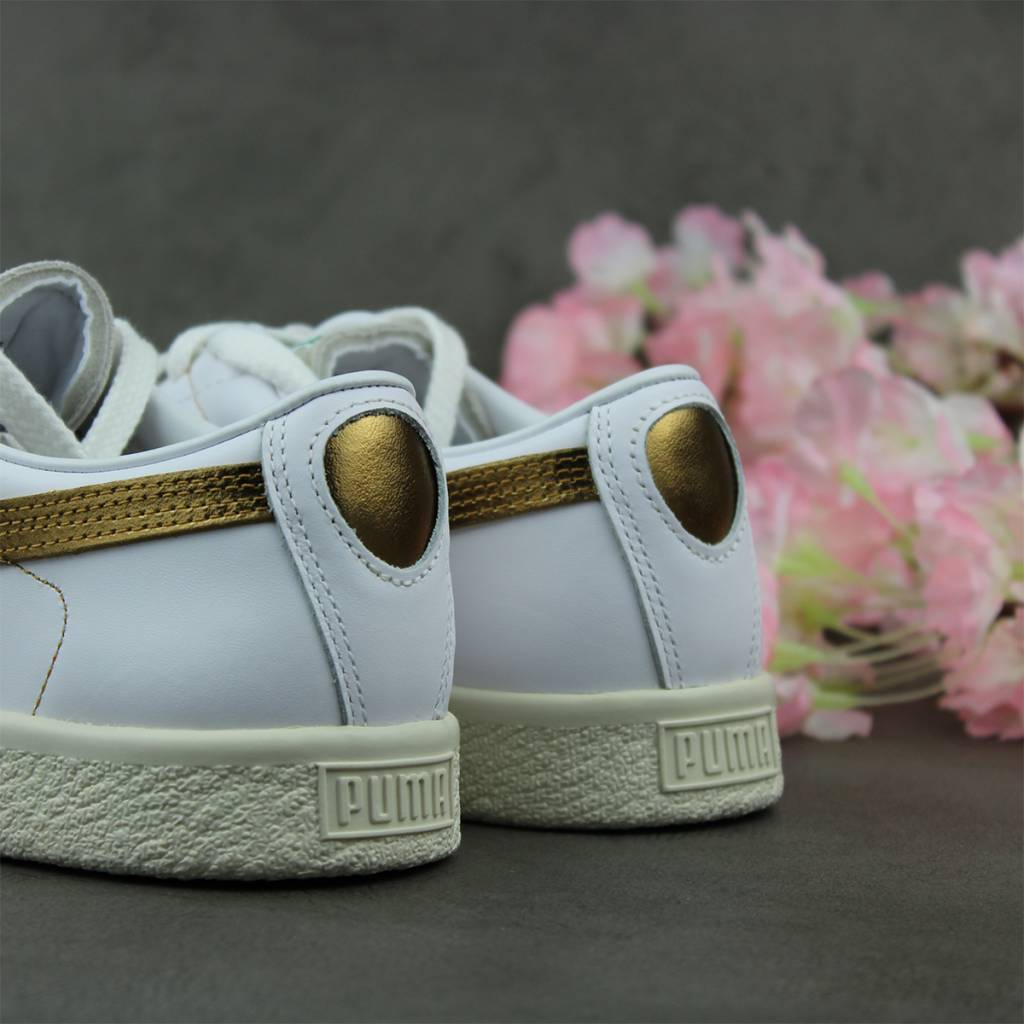 Puma Basket 90680 G (White/Team Gold) 367748-02