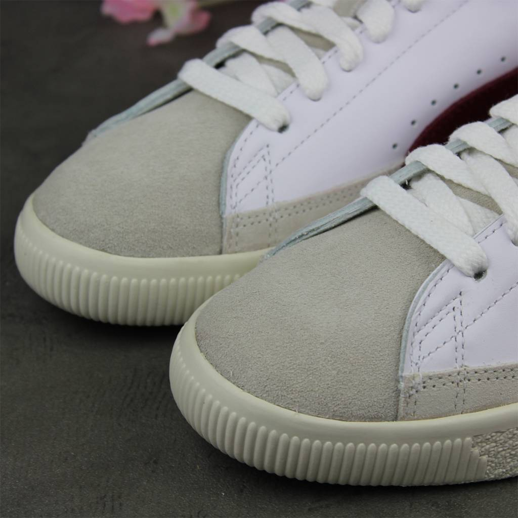 Puma Basket 90680 (White/Pomegranate) 365944-04