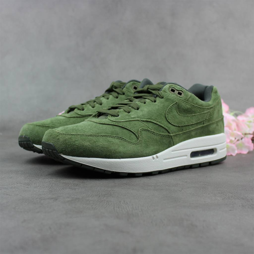 reputable site df09a 7a862 Nike Air Max 1 Premium (Olive Canvas) 875844-301 - Sunika Am