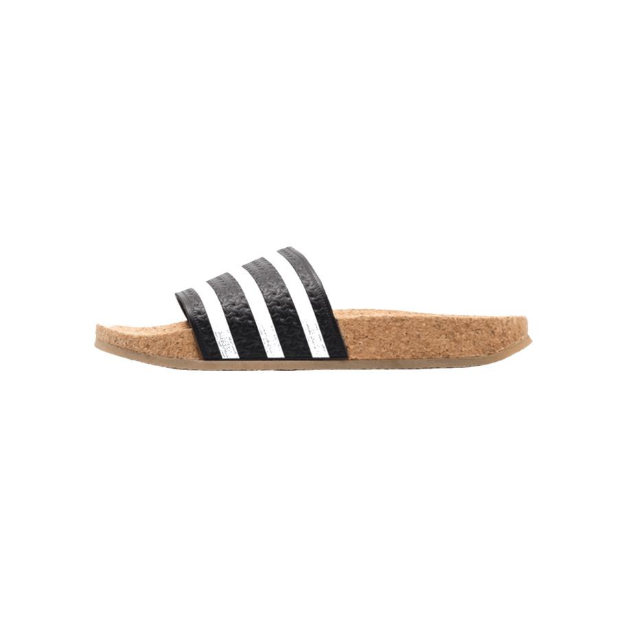 Adidas Adilette Cork W (White/Black/Cork) BA7211