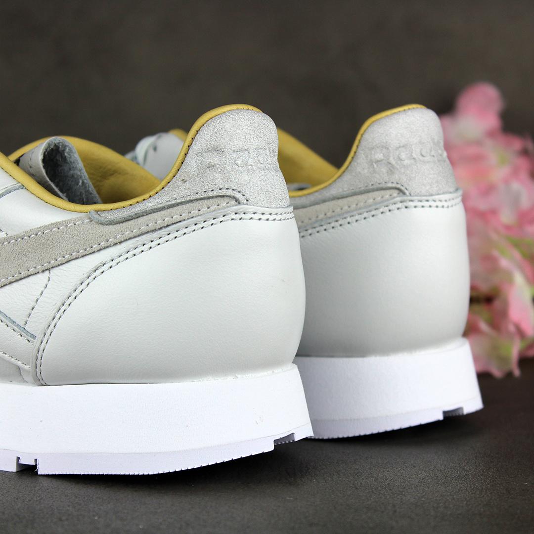 Reebok CL LTHR (True Grey/Gold Metallic/White) FY9401