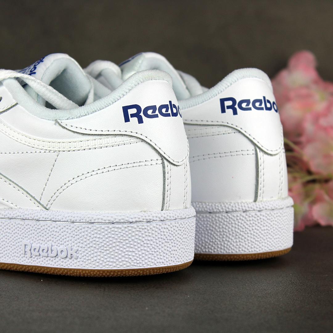 Reebok Club C 85 (Intense White/Royal-Gum) AR0459