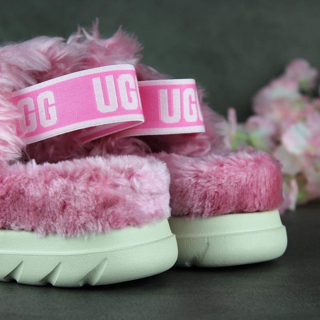 UGG Fluff Sugar Sandal (Pink) 1119999