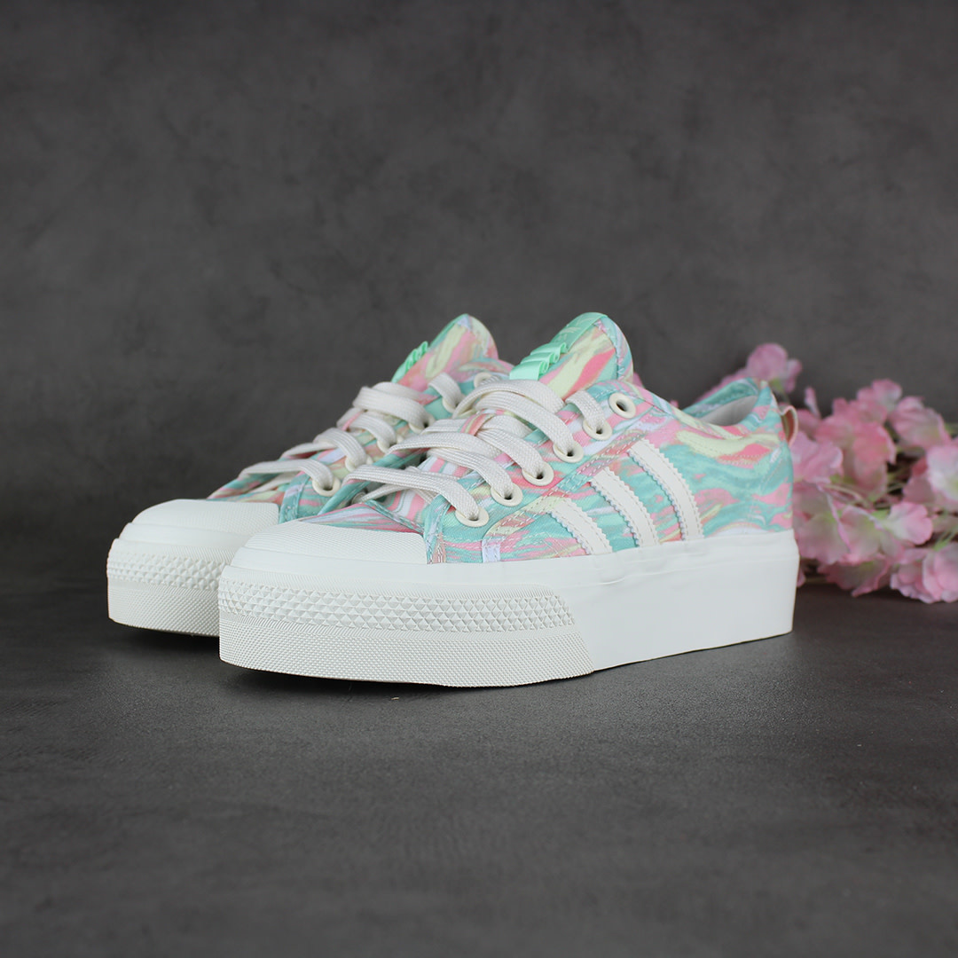 Adidas Nizza Platform W (Chalk White/Frozen Green) GW0166