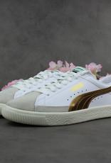 Puma Basket 90680 G (White/Team Gold) 367748-02